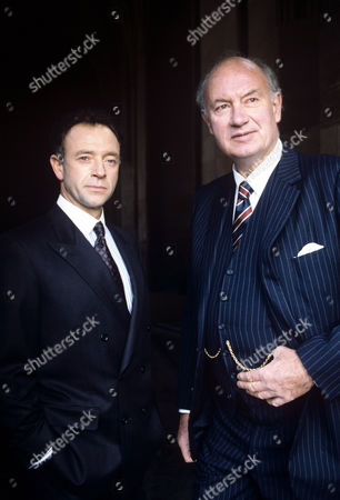 Stock Picture of Michael Kitchen (left) and Iain Cuthbertson in 'The guilty' - 1991