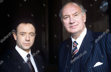 Michael Kitchen (left) and Iain Cuthbertson in 'The guilty' - 1991