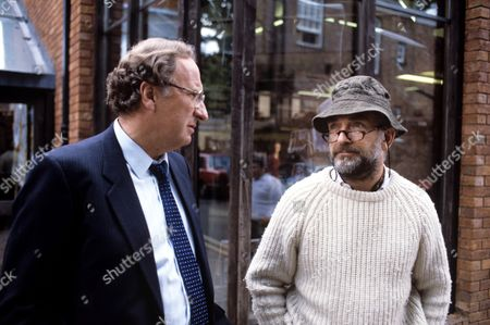Christopher Benjamin (left) and Paul Freeman in 'The Index Has Gone Fishing' - 1987