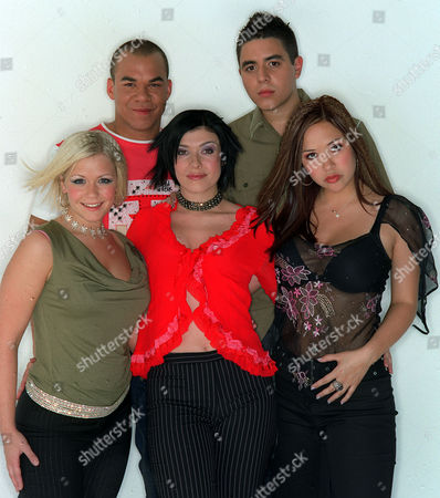'Say It's Saturday' - 2001 - Hear'say Back: Danny Foster and Noel Sullivan. Front: Suzanne Shaw, Kym Marsh and Myleene Klass.