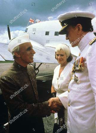 Ian Richardson (left) , Janet Suzman and Nicol Williamson in 'Lord Mountbatten The Last Viceroy' - 1985