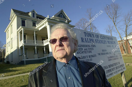 Stock Photo of STANLEY Ralph Stanley poses in front of the future Ralph Stanley Museum and the Traditional Mountain Music Center, in Clintwood, Va