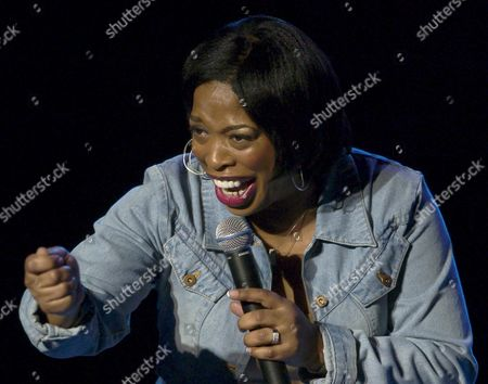 ADELE GIVENS Comedian Adele Givens does her part to show attitude in Women with Attitude, at the U S Comedy Arts Festival, in Aspen, Colo