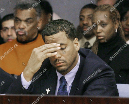 WILLIAMS YOUNG Former New Jersey Nets star Jayson Williams, middle, listens to testimony along with his wife, Tanya, right, and his father-in-law, Norwood Young, during his trial at the Somerset County Courthouse in Somerville, N.J., . W