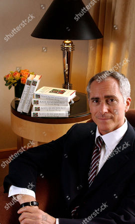 "BERG A. Scott Berg, author of ""Kate Remembered"", a biography of the late actress Katharine Hepburn, poses for photographs in his hotel suite July, 11, 2003 in New York"