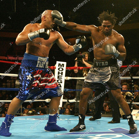 BYRD OQUENDO International Boxing Federation heavyweight champion Chris Byrd, right, holds back Fres Oquendo in the 9th round during an IBF heavyweight championship fight at Mohegan Sun Arena, in Uncasville, Conn. Byrd won the championship fight by a unanimous decision