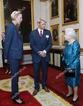 Victoria Thornley, Andrew Triggs Hodge, Queen Elizabeth II
