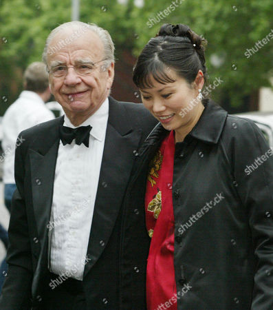 Rupert Murdoch and his wife Wendy Deng arrive at Gracie Mansion for the wedding of former Mayor Rudolph Giuliani to Judith Nathan in New York