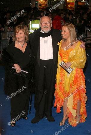 Edward Woodward with wife Michele Dotrice and daughter