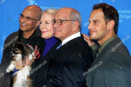 Producer Deepak Nayar, Lauren Bacall and her dog Sophie, Director Paul Schrader and Moritz Bleibtreu