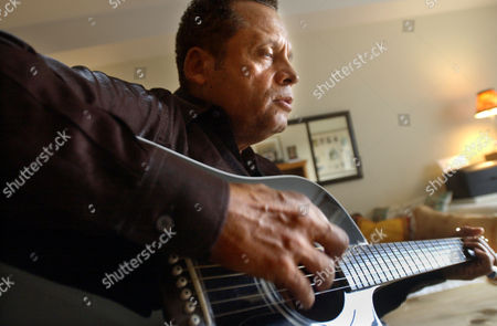 """Musician singer Garland Jeffreys at home in New York, . Garland recorded Bruce Springsteen's """"Philadelphia"""" for the tribute album """"Light of Day: A Tribute to Bruce Springsteen"""" to benefit the Parkinson's Disease Foundation and the Kristen Ann Carr Fund"""