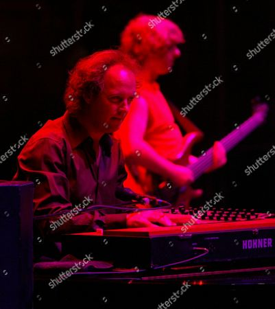 "MCCONNELL GORDON Phish keyboardist Page McConnell and bassist Mike Gordon perform, during the ""It"" festival at the former Loring Air Force Base in Limestone, Maine"