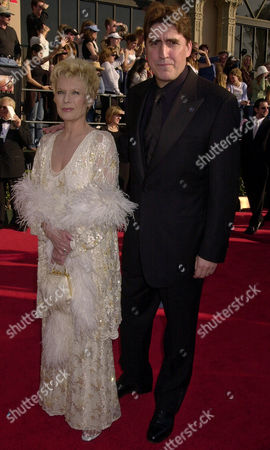 """GASCOINE MOLINA Actor Alfred Molina, nominated for his supporting role in the film """"Frida,"""" arrives with his wife Jill Gascoine at the 9th annual Screen Actors Guild awards in Los Angeles"""