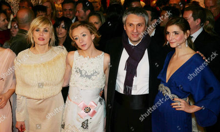 Emmanuelle Seigner, Sylvie Testud, Alain Goldman and Clotilde Courau