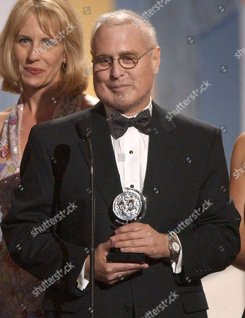 """Todd Haimes, artistic director for The Roundabout Theatre Company, accepts the Tony Award for Best Musical Revival for """"Nine The Musical"""" during the 57th Annual Tony Awards, at New York's Radio City Music Hall"""