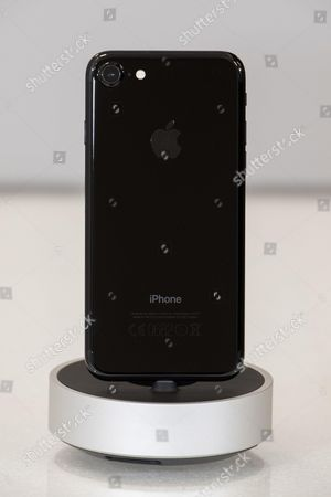 Apple new iPhone 7 Jet Black Apple (View Back) at MCS Apple Premium Reseller in Nice, FRANCE