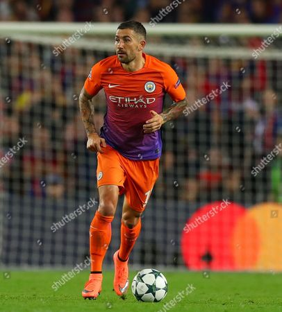 Aleksander Kolarov of Manchester City during the UEFA Champions League Group C match between FC Barcelona and Manchester City played at the Camp Nou, Barcelona, Spain on 19th October 2016