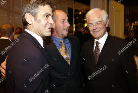 "CLOONEY FERRER Actors, from left, George Clooney and Miguel Ferrer, and broadcaster Nick Clooney attend ""An Evening to Remember Rosemary Clooney,"" in Beverly Hills, Calif"