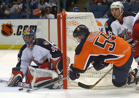 Editorial picture of BLUE JACKETS ISLANDERS, UNIONDALE, USA