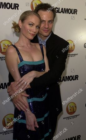 WINTER XUEREB Australian actor Sarah Winter is photographed with her fiance Emanuel Xuereb at the Entertainment Tonight/ Glamour Magazine post Emmys party, in West Hollywood, Calif