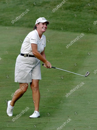 KANE Lorie Kane of Canada watches her approach shot on the par-4 18th hole during the first round of the LPGA Wendy's Championship on in Dublin, Ohio. Kane parred the hole and finished the first round at 4 under par