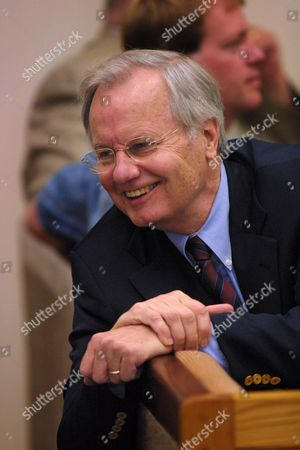 """MOYERS Journalist Bill Moyers talks to a friend in the District Court of Vermont where he pleaded guilty to negligent operation of a motor vehicle, a misdemeanor, in Bennington, Vt. Moyers, who hosts a weekly program on Public Television called """"NOW with Bill Moyers,"""" was arrested and charged with driving under the influence of alcohol on July 27, after leaving a friend's birthday party in Arlington, Vt"""