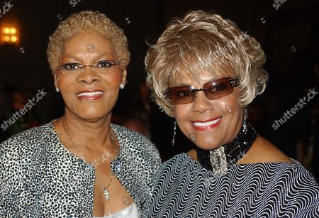 WARWICK ROBINSON Singer Dionne Warwick, left, poses for a photograph with Claudette Robinson during the reception of the 13th Annual Pioneer Awards presented by the Rhythm & Blues Foundation in New York