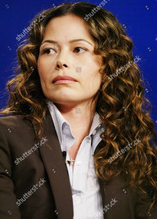 "Stock Image of ALVARADO ROSA NBC television drama series ""Kingpin"" co-star Angela Alvarado Rosa takes questions from the media, at the 2003 NBC Winter Press Tour in Los Angeles"