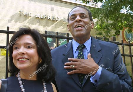 MCCALL New York Democratic candidate for governor H. Carl McCall and his wife, Joyce Brown McCall, are seen after voting on primary day in New York