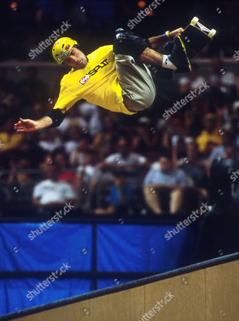Andy MacDonald in the Skateboarding Vert at the X Games - Aug 2001