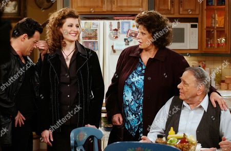 """COSTANTINE Cast members of the new CBS comedy series """"My Big Fat Greek Life,"""" from left, Louis Mandylor, Nia Vardalos, Lainie Kazan and Michael Constantine, rehearse a scene on the set of the show, in Los Angeles. The half-hour sitcom, based on the hit film """"My Big Fat Greek Wedding,"""" will settle into a regular Sunday night time slot after it's premiere at 9:30 p.m., EST, Monday, Feb. 24"""