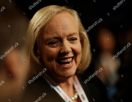 Meg Whitman, former Hewlett Packard CEO waits for the third debate between Democratic presidential nominee Hillary Clinton and Republican presidential nominee Donald Trump during the third presidential at UNLV in Las Vegas