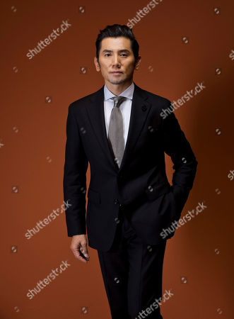 Stock Image of Masahiro Motoki In this picture taken, actor Masahiro Motoki poses for portraits for the film ' Nagai Iiwake' (Long excuses), at the 11th edition of the Rome Film Festival in Rome