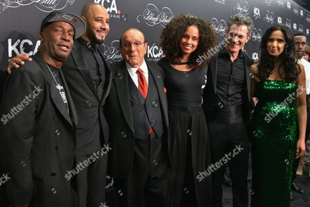 Grandmaster Flash, Swizz Beatz, Clive Davis, Alicia Keys, Peter Twyman, and Padma Lakshmi