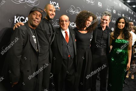 Swizz Beatz, Clive Davis, Alicia Keys, Peter Twyman, Padma Lakshmi