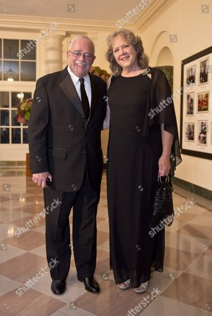 US Congressman Gerry Connolly and Catherine Smith arrive at the White House