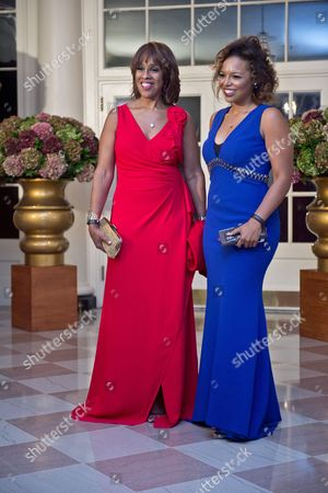 Gayle King and daughter Kirby Bumpus arrive at the White House