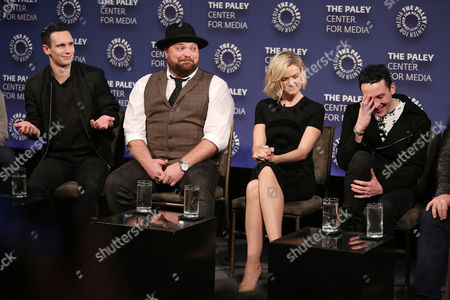 Cory Michael Smith, Drew Powell, Erin Richards and Robin Lord Taylor