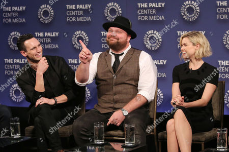 Cory Michael Smith, Drew Powell and Erin Richards