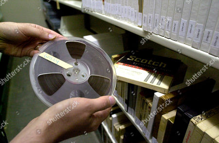 WEISS Steve Weiss, head of Southern Folklife Collection, looks at one of the many 1/4-inch open reel audio tapes in the Wilson Library archives at the University of North Carolina in Chapel Hill, N.C., . The National Academy of Recording Arts & Sciences has given the UNC libarary $22,649 to preserve and make available 236 recordings held in its Southern Folklife Collection, including tracks by singers Bob Dylan, Pete Seeger, Tom Paxton and Janice Ian. The recordings will eventually be made available to the public
