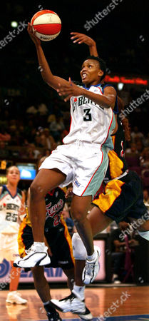 ROBINSON WILLIAMS New York Liberty forward Crystal Robinson drives to the hoop in front of Indiana Fever guard Rita Williams late in the second half of the Liberty's 74-55 win at Madison Square Garden in New York, . Robinson led scoring with a season-high 24 points