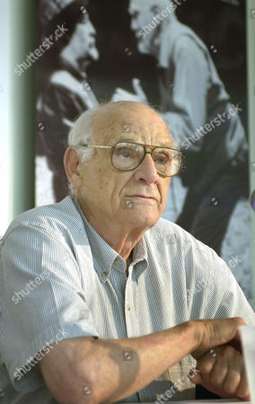 DAVID ESBJORNSON Renowned playwright Arthur Miller, speaks at a press conference at the Guthrie Theater in Minneapolis, Minn. . Miller's new play, Resurrection Blues, will debut in Minneapolis August 9, 2002 and will be directed by Minneosota native David Esbjornson
