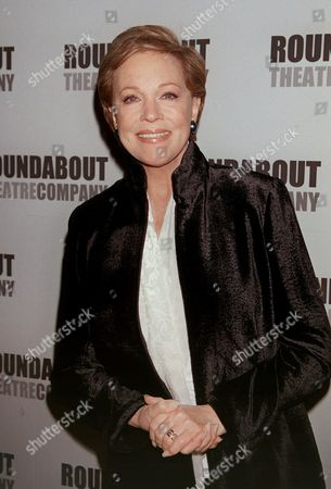 Stock Picture of ANDREWS Stage and motion picture star Julie Andrews arrives at the Roundabout Theatre Company's 2002 Spring Gala, in New York. The Roundabout honored Christopher Plummer with the inaugural Jason Robards Award for Excellence in Theatre