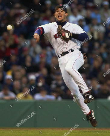 GARCIAPARRA Boston Red Sox shortstop Nomar Garciaparra throws out Chicago White Sox's Mark Johnson at first base in the third inning at Fenway Park in Boston