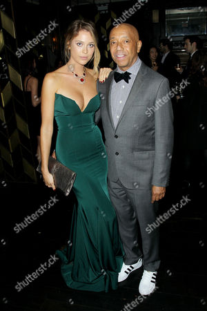 Genevieve Barker and Russell Simmons