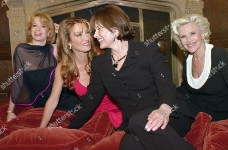 "BLACKMAN Actresses who have appeared in James Bond movies, from left, Luciana Paluzzi (Fiona Volpe in ""Thunderball,"" 1965), Jane Seymour (Solitaire in ""Live and Let Die,"" 1984), Maud Adams (Andrea Anders in ""The Man with the Golden Gun,"" 1974) and Honor Blackman (Pussy Galore in ""Goldfinger,"" 1964) gather at the Playboy Mansion, in Los Angeles for a promotional shoot. They were shooting promos for ABC's primetime presentation of ""Goldfinger"", airing, Saturday, Feb. 9, as part of the network's ""The Bond Picture Show"" series"