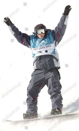 KASS USA's Danny Kass competes during the men's halfpipe qualifying competition, in Park City, Utah. Americans Ross Powers, Danny Kass and J.J. Thomas made history on the halfpipe Monday, giving the United States its first medals sweep in the Winter Olympics in 46 years