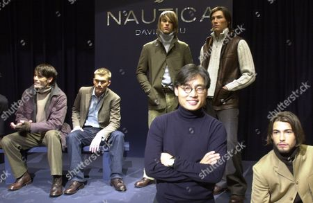 CHU David Chu, front, founder of and designer for Nautica, presents the Nautica fall 2002 collection at a company store in Rockefeller Center, in New York