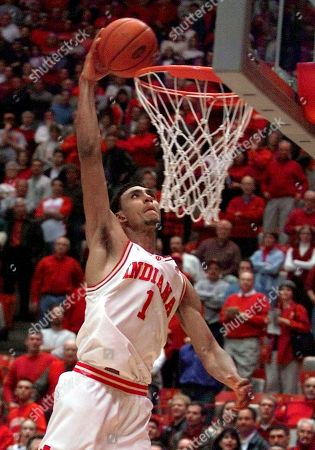 JEFFERIES Indiana's Jared Jeffries gets a bucket on a slam dunk in a game against Ohio State in Bloomington, Ind., . Jeffries has led the Hoosiers to a share of the Big Ten title, their first since 1993, and won the Big Ten player of the year award while learning how to play through injuries