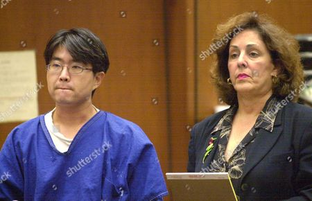 """Stock Picture of KOPPLE KANG Hyun Gu """"Eddie"""" Kang, the first person extradited to the United State from South Korea under a treaty signed in 1999, stands before a Superior Court judge in Los Angeles, with his attorney, Madelynn Kopple, in which it was to be determined if he will be required to serve 271 years to life for his rape conviction. The hearing was postponed until Monday, Nov. 5"""